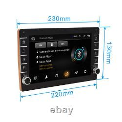 2Din 8 Android 8.1 1080P Touch Quad-core 1+16GB Car Stereo Radio Player GPS Nav