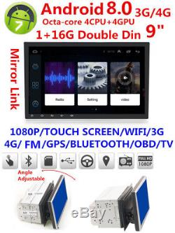2Din 9 Android 8.0 Octa-Core Car Stereo Radio GPS Wifi 3G 4G BT DAB Mirror Link