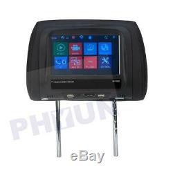 2PC 7inch Touch screen Car Headrest Monitor Back Seat USB/SD/MP5 Player BT IR FM
