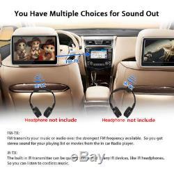 2PCS 10.1 1024600 HD LCD Car Headrest Monitor DVD Player HDMI/USB/SD/IR/FM Kit