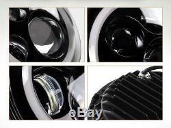 2pcs DOT 7 Inch Round LED Headlight DRL Signal Light For Jeep Wrangler 07-18 JK