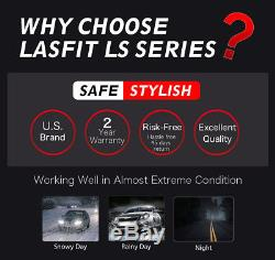 2x LASFIT LS Series 90W H11 H9 H8 LED Headlight Low Beam Fog Light 10000LM 6000K