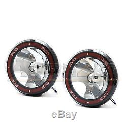 2x Universal 7 Inch Built-in Xenon HID 4x4 Off Road Rally Driving Fog Light Lamp