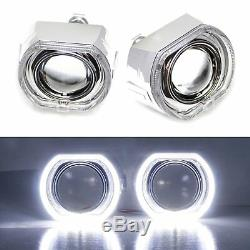 3.0 H1 Bi-Xenon Projector Lens DTM Square LED Halo Ring Shrouds For Headlights
