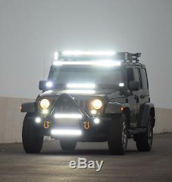 300W 52 Led Light Bar+ 2x18W LED Light + 3 LEAD Rocker Switch Wiring Harness
