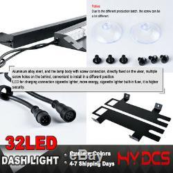 34 32 LED Strobe Lights Emergency Hazard Warning Visor Dash Bar Amber White Y