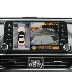 360° Bird Eye View Panoramic 4 Camera Car DVR Recording Parking Rear View Videos