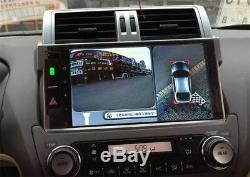 360°Bird View Panoramic System 4 Camera Car DVR Recording Parking Rear View 4CH