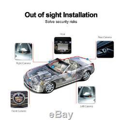 3D Bird View Car Parking Recorder Assistance 4 Camera DVR Shock Sensor Universal
