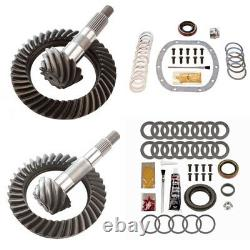 4.56 Ring And Pinion Gears & Install Kit Package Dana 30 Tj Front / D35 Rear