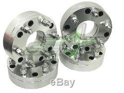 4 WHEEL ADAPTERS 5x4.5 to 6x5.5 USE 6 LUG WHEELS ON 5 LUG CAR 2 INCH 12x1.5