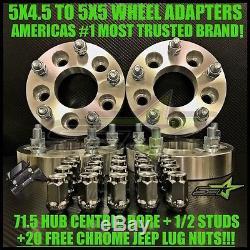 """Adapts Jeep JK Wheels On TJ YJ KK SJ xJ MJ 4 Wheel Adapters 5x4.5 To 5x5 2/"""""""
