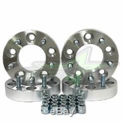 4 Wheel Spacer Adapters 5x5 to 5x5.5 1.25 Inch 32mm 1/2x20 Stud 5x127 to 5x139.7