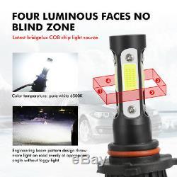 4-sides 9005+9006 CREE LED Headlights Conversion Kits total 4800W 720000LM Hi/Lo
