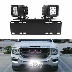 40W CREE LED Pods with License Plate Bracket, Wirings For Truck Jeep ATV 4WD 4x4