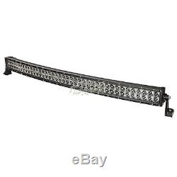 42INCH 560W CREE Curved LED Light Bar Flood Spot Combo Offroad Truck 4WD 44 50