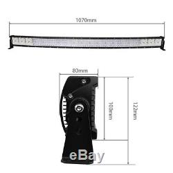 42INCH Curved 5152W Quad Rows CREE LED Light Bar Combo Offroad 4WD Truck ATV 40