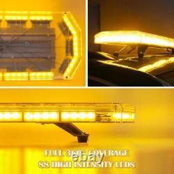 48 88LED Roof Light Bar Tow Truck Emergency Beacon Warning Plow Strobe Amber