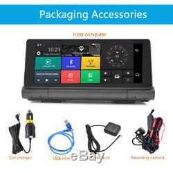 4G Car DVR GPS Navigator+Dual Cameras 6.84 Touch Screen+Wifi Bluetooth HD 1080P