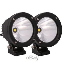 4X 4.7 25W 6000 LED Work Light Spot Beam Round Driving Fog Lamp Offroad 4x4 SUV