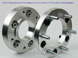 4pc 2 Wheel Adapters 5x4.5 To 6x5.5 5 Lug To 6 Lug 5x114.3 To 6x139.7