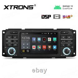 5 Android 10.0 Car GPS Radio Stereo RCA USB DSP For Jeep Grand Cherokee 1999-04