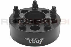 5 JEEP 5x4.5 TO 5x5 2 THICK BLACK HUB CENTRIC WHEEL SPACERS ADAPTERS CONVERSION