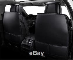 5-Seats Car Seat Cover PU Leather Front & Rear Full Interior Set Easy to install