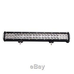 50'' 288W LED LIGHT BAR CURVED DRIVING +CREE 20 +418W Combo Free Wires Offroad