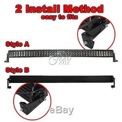 50inch 480W CREE LED Curved Light Bar Combo Offroad UTE Jeep Driving 4WD ATV 52