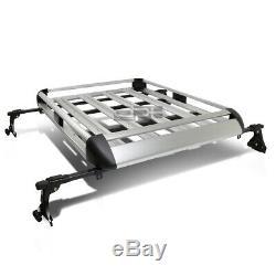 50x 38adjustable Roof Rack Car/suv Cargo Luggage/bag Carrier Basket+crossbar