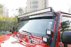 52INCH 700W LED Light Bar Combo+12 72W+4 18W Fit Jeep Wrangler JK YJ TJ CJ LJ