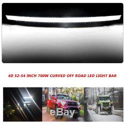 52Inch Curved LED Light Bar+32in Spot Flood+3'' Pods Cube Jeep Truck SUV Offroad
