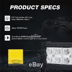 52inch 700w +24 280w+4 18w Spot Flood Combo Cree Led Light Bar For Jeep 50/54