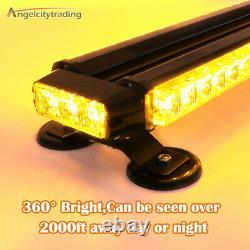 54 LED 26 Strobe Light Bar Amber Emergency Traffic Advisor Double Side Warning