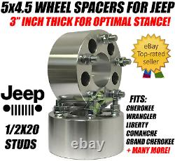 5x4.5 Wheel Spacers 3 Inch 1/2-20 Studs Forged Billet 75mm 5 lug 114.3 Adapters