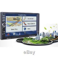 7 2 Din In-dash In-car GPS Navigation Bluetooth Car Stereo MP3 Player FM Radio