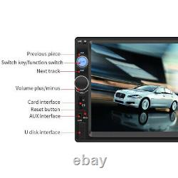 7'' 2DIN HD Car Stereo Radio MP5 Player Bluetooth Touch Screen Rear Camera USA
