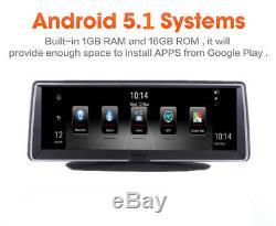 7.8 1080P Android 5.1 Car Dash Camera Recorder Wifi FM GPS Navigation Map 4G BT