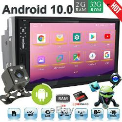 7 Android10.0 Double 2 DIN 32GB ROM Car stereo Radio Player GPS Navi WiFi+CCD