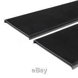 78.7'' Universal Side Skirt Extensions Rocker Panel Splitters Lip Polypropylene