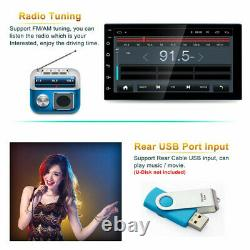 7Inch Touch Screen 2 Din Android Car Stereo Radio Bluetooth WiFi GPS Navigation