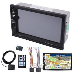 7inch 2DIN HD Stereo Audio Dash Player Car Radio FM GPS Navigation with Free Map