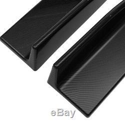 86.6'' Carbon Fiber Look Universal Side Skirts Extension Rocker Panel Splitters