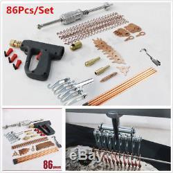 86Pcs Stud Welder Dent Puller Kit Spot Welding Pulling System Auto Repair Tools