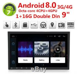 9 2Din Car Stereo Radio GPS Wifi 4G TV LTE BT DAB Mirror Link OBD Touch Screen