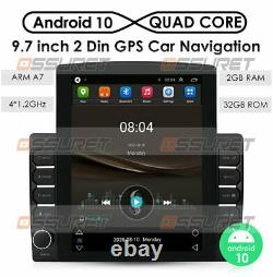 9.7'' Android 2+32GB HD 2Din Car Stereo Radio GPS Bluetooth WIFI Vertical Screen