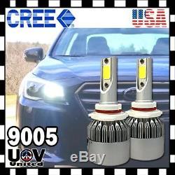 9005 9140 9145 HB3 72W 7600 Lumen 6500K CREE COB LED Light Bulbs High Beam DRL