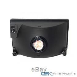 93-96 Jeep Grand Cherokee SUV Black Headlights with Bumper Corner Lamps Left+Right