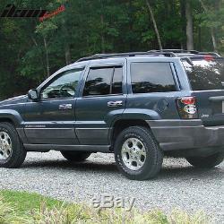 Vent Shade Window Visors Deflector Jeep Grand Cherokee 99 00 01 02 03 04 4pcs